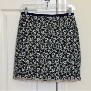 J. Crew Floral Embroidered Flounce Skirt